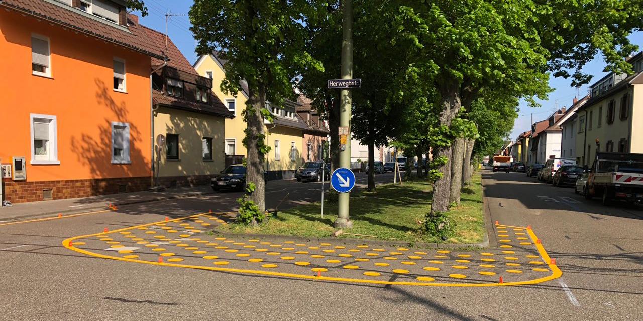 Parkabschnitt Markierung